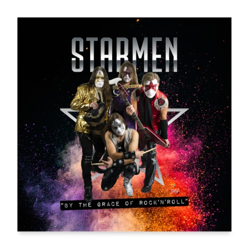Starmen - By the Grace of Rock 'n' Roll - Poster 24 x 24 (60x60 cm)