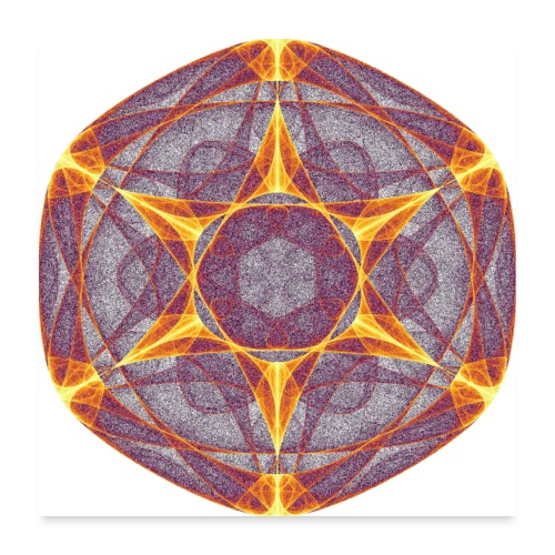 Star Poinsettia Mandala Lucky Star 9401I_P - Poster 24 x 24 (60x60 cm)