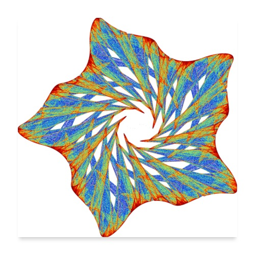Colorful starfish with thorns 9816j_P - Poster 24 x 24 (60x60 cm)