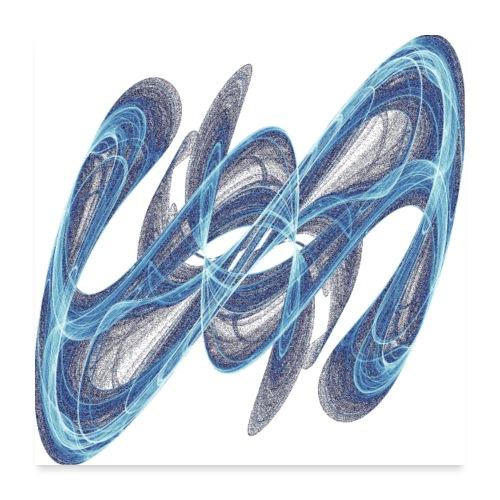 Geheimzeichen aus der Chaostheorie 7545 ice P - Poster 60x60 cm