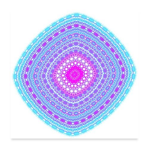 cheerful blue diamond 5400 cool - Poster 24 x 24 (60x60 cm)