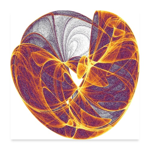 Streams of Heart 8124 Inferno Poster - Poster 24 x 24 (60x60 cm)