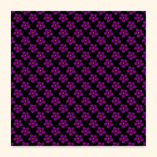 violette Blumen, Blüten, floral, blumig, violett - Poster 60x60 cm