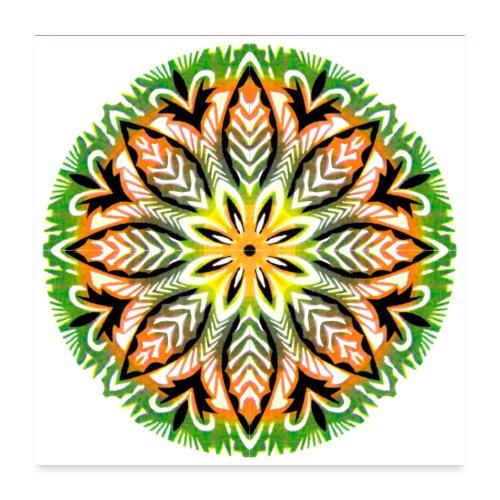 Wycinanka z kolorowanego papieru Reprodukcja - Plakat o wymiarach 60 x 60 cm