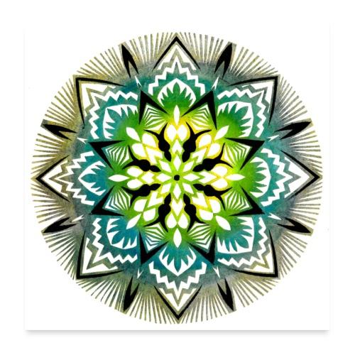 Wycinanka z kolorowanego papieru Reprodukcja 2 - Plakat o wymiarach 60 x 60 cm