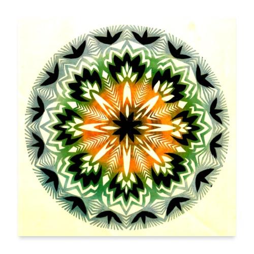 Wycinanka z kolorowanego papieru Reprodukcja 3 - Plakat o wymiarach 60 x 60 cm