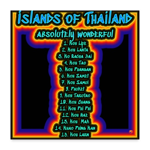 Island of Thailand - Poster 60x60 cm
