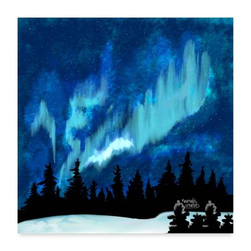 Tempête de aurores boréales - Poster 60 x 60 cm