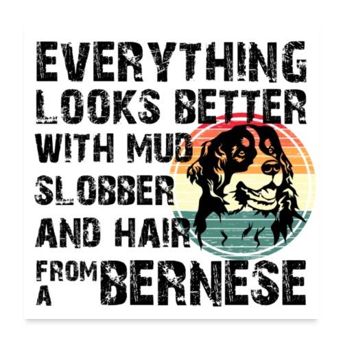 Bernese mountain dog poster - Poster 60x60 cm