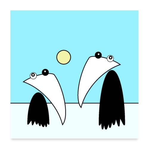 Raving Ravens - antartica - Poster 60x60 cm