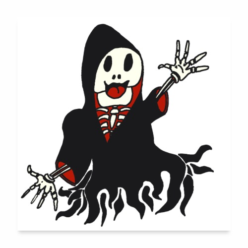 grim reaper funny style - Poster 60 x 60 cm