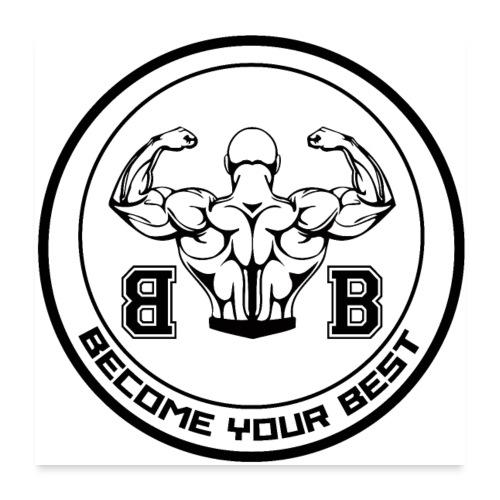 BYB logo black - Poster 60x60 cm