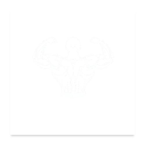 BYB logo white - Poster 60x60 cm