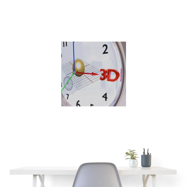3D O' Clock with Sphere, 3D model, P/View, Poster