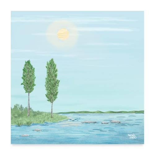 heure d'été - Poster 60 x 60 cm