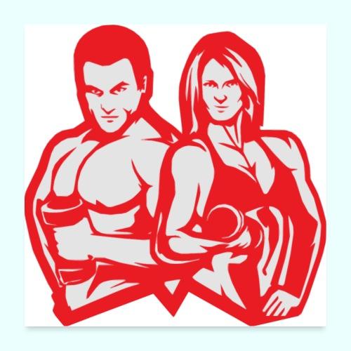 Man & woman NLB - Juliste 60x60 cm