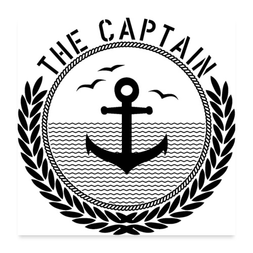 The Captain - Anchor - Poster 60x60 cm