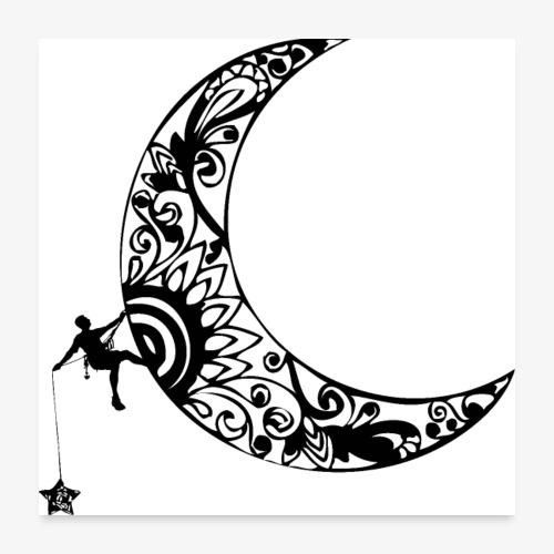Luna - climb to the stars - Poster 24 x 24 (60x60 cm)