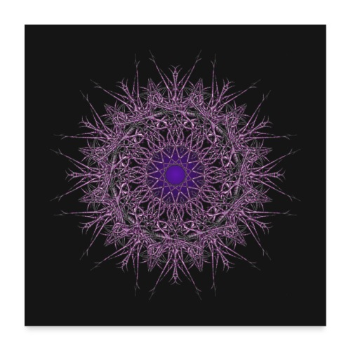 ornament jasmin dark blue - Poster 60x60 cm