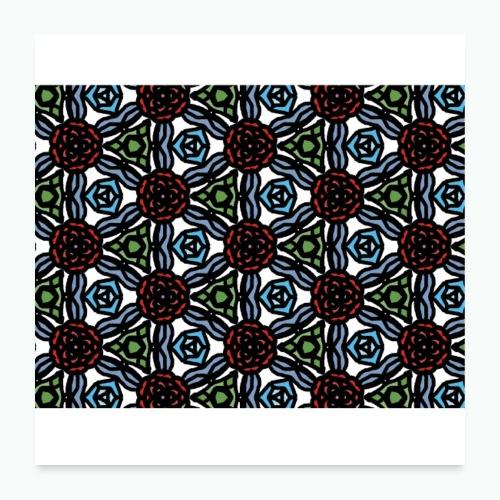 Symmetric roses - Poster 24 x 24 (60x60 cm)