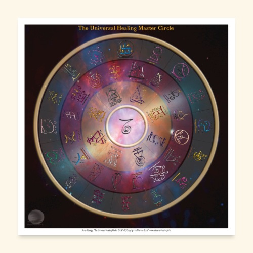 The Universal Healing Master Circle - Poster 60x60 cm