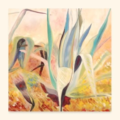 agaves jaunes - Poster 60 x 60 cm