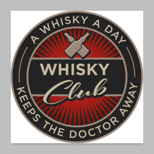 Whisky Club - Poster 60x60 cm