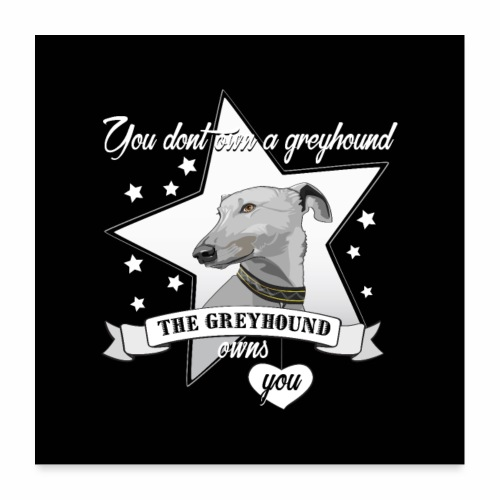 The Greyhound - Poster 60x60 cm