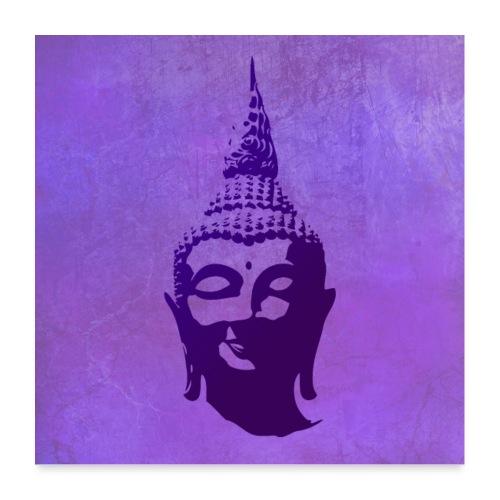 Boeddha hoofd - Poster 60x60 cm