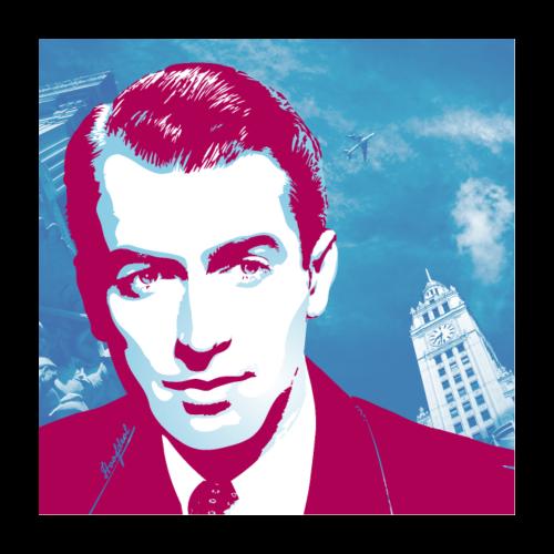 James Stewart Chicago - Poster 60x60 cm
