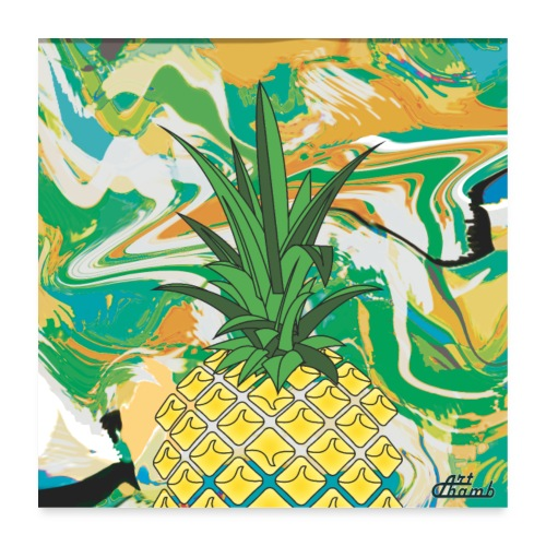 Poster Ananas Fruit - Poster 60 x 60 cm