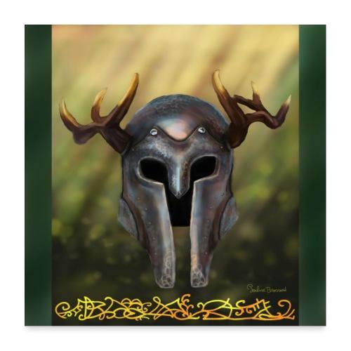 horn helmet - Poster 60 x 60 cm