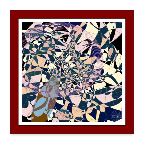 Retro Formen - Poster 60x60 cm