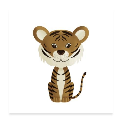 Tiger Monty - Poster 60x60 cm