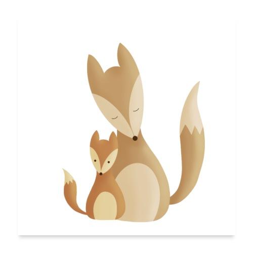 Fuchsliebe - Poster 60x60 cm