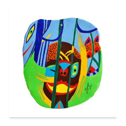 Im Dschungel | 2012 - Poster 60x60 cm