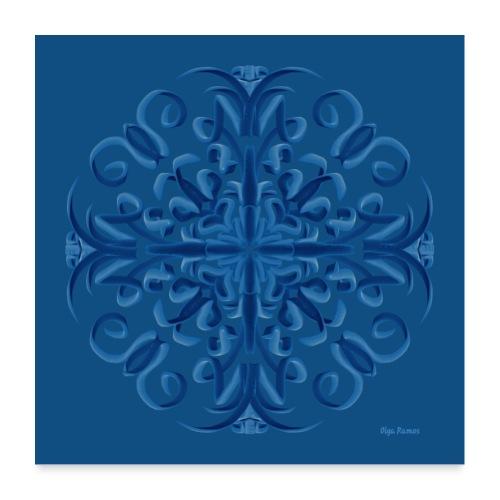 Classic Blue Poster Modo Mandala - Póster 60x60 cm