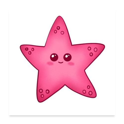 Starfish, stella marina per la camera dei bambini - Poster 60x60 cm