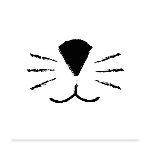 Katzen Schnute - Poster 60x60 cm