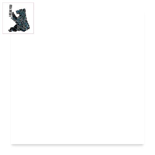 I BEAR YOU - Poster 60x60 cm