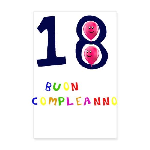 18 BUON compleanno - Poster 20x30 cm