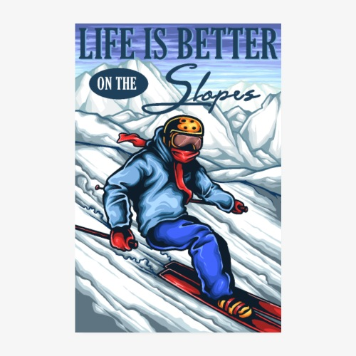 Ski Life - Poster 20x30 cm