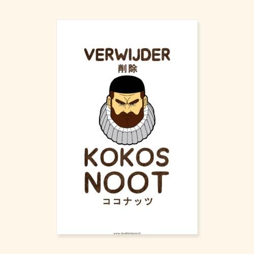 Verwijder Kokosnoot Poster - Poster 20x30 cm