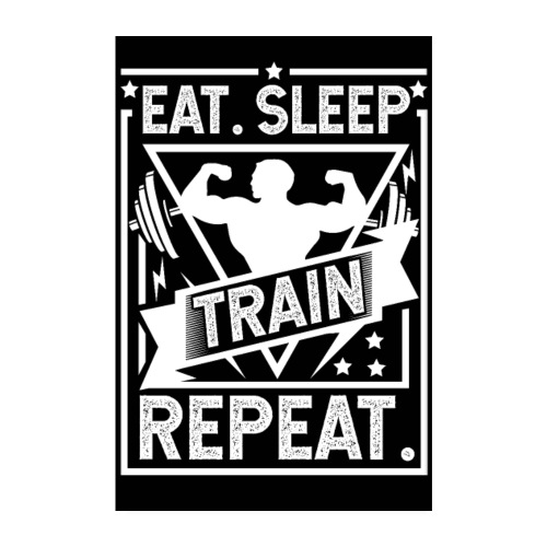 Eat Sleep Train Repeat Poster - Poster 20x30 cm