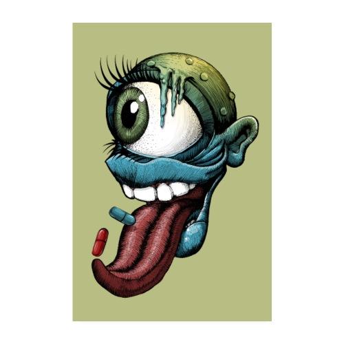 Auge, Mund, Zunge - Poster 20x30 cm