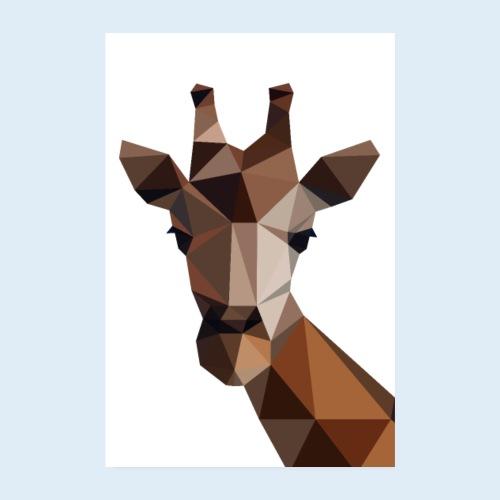 Giraffe 3D - Poster 2:3 - Poster 20x30 cm