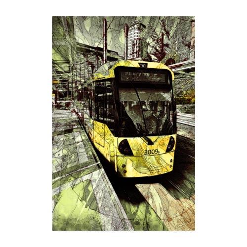 Tram at MediaCityUK - Poster 8 x 12
