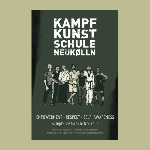 Kampfkunstschule Neukölln Poster 2:3 Format - Poster 20x30 cm