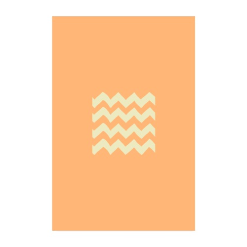 orange waves - Poster 20x30 cm