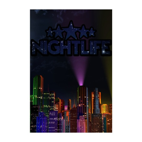 NIGHT LIFE POSTER - Poster 20x30 cm